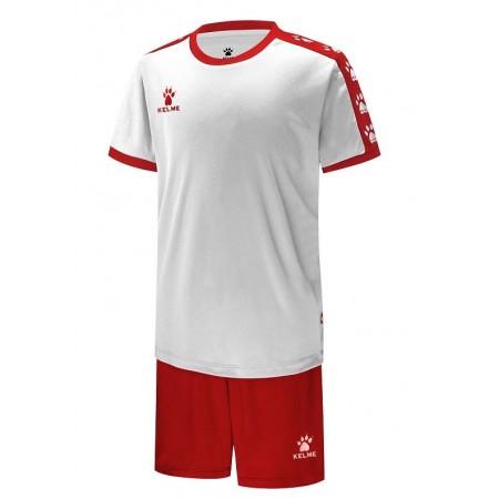 Комплект футбольньої форми  COLLEGUE біло-червоний  к/р дитячий 3883033.9107 Kelme