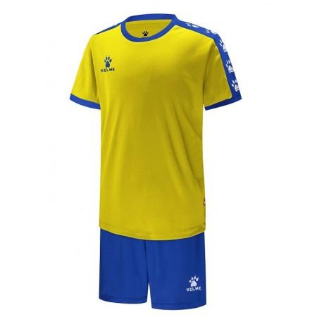 Комплект футбольньої форми  COLLEGUE жовто-синій  к/р дитячий 3883033.9714 Kelme