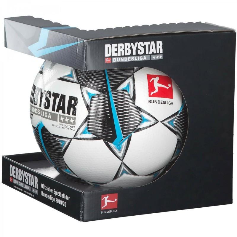 Футбольный мяч DERBYSTAR FB BL BRILLANT APS FIFA (147), БЕЛ/ЧЕРН/СЕР