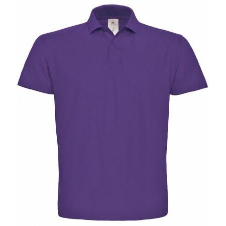 Поло B&C ID.001 цвет фиолетовый (350)