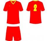 Футбольная форма Titar Универсал красная