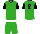 Футбольная форма Titar Универсал II зелено-черная