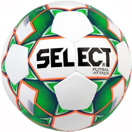 Футзальный мяч Select Futsal Attack бело-зеленый