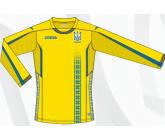 Игровая футболка с длинный рукавом сборной Украины по футболу Joma FFU102011.17 желтая