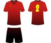 Футбольная форма Titar CoolMax сублимация красно-черная