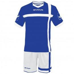 Футбольная форма Givova Kit Croce бело-голубая KITC32.0203