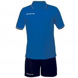 Футбольная форма Givova Kit Street синяя KIT032.0204