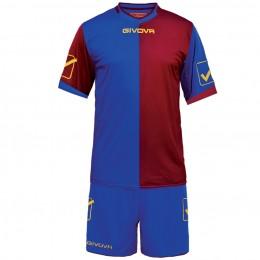 Футбольная форма Givova Kit Combo бордово-синяя KITC22.0208
