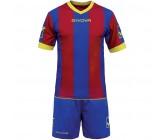 Футбольная форма Givova Kit Catalano бордово-голубая KITC26.0208