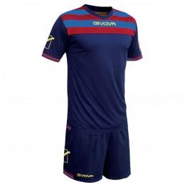 Футбольная форма Givova Kit Curva синяя KITC40B.0208