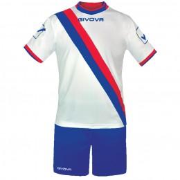 Футбольная форма Givova Kit Trasversal бело-голубая KITC20.0212