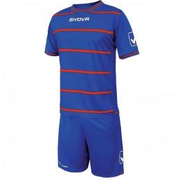 Футбольная форма Givova Kit Caos синяя KITC41B.0212