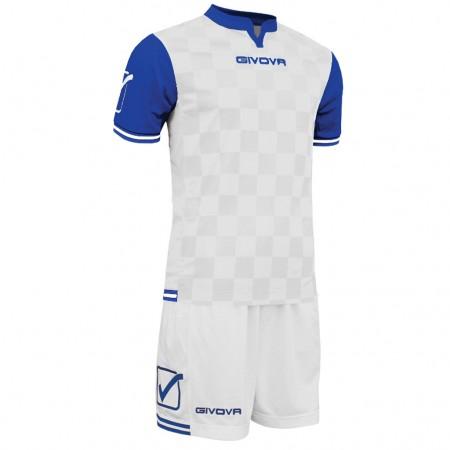 Футбольная форма Givova Kit Competition бело-голубая KITC45.0302