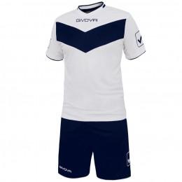 Футбольная форма Givova Kit Vittoria бело-синяя KITT04.0304