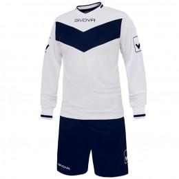 Футбольная форма Givova Kit Olimpia бело-синяя KITT44.0304