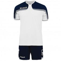 Футбольная форма Givova Kit America бело-синяя KITC47.0304