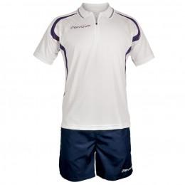 Футбольная форма Givova Kit Easy бело-синяя KIT034.0304