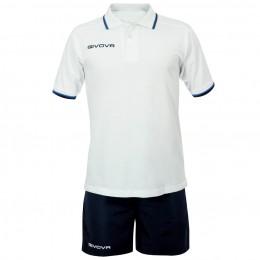 Футбольная форма Givova Kit Street бело-синяя KIT032.0304