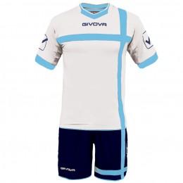 Футбольная форма Givova Kit Croce бело-синяя KITC32.0305