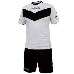 Футбольная форма Givova Kit Vittoria черно-белая KITT04.0310
