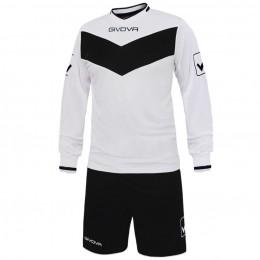 Футбольная форма Givova Kit Olimpia черно-белая KITT44.0310