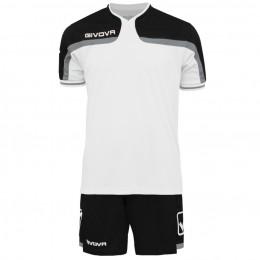Футбольная форма Givova Kit America черно-белая KITC47.0310