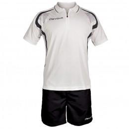 Футбольная форма Givova Kit Easy бело-черная KIT034.0310