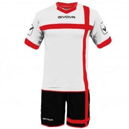 Футбольная форма Givova Kit Croce бело-черная KITC32.0312