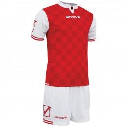 Футбольная форма Givova Kit Competition бело-красная KITC45.0312