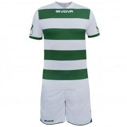 Футбольная форма Givova Kit Rugby бело-зеленая KITC42B.0313