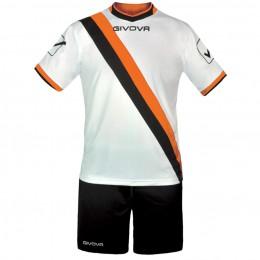 Футбольная форма Givova Kit Trasversal черно-белая KITC20.0401