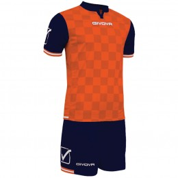 Футбольная форма Givova Kit Competition оранжево-синяя KITC45.0401