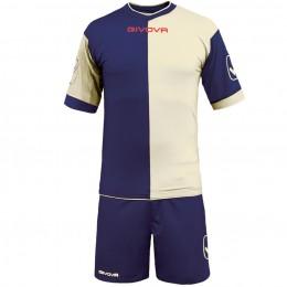 Футбольная форма Givova Kit Combo бело-синяя KITC22.0403
