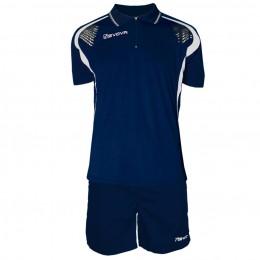 Футбольная форма Givova Kit Easy синяя KIT034.0403