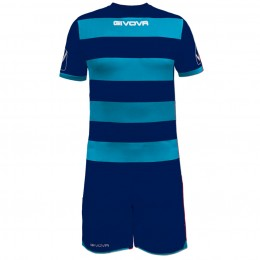 Футбольная форма Givova Kit Rugby сине-голубая KITC42B.0405