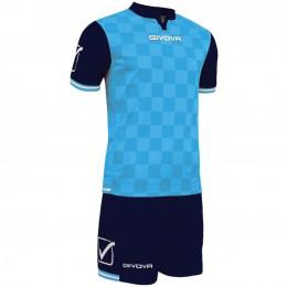 Футбольная форма Givova Kit Competition сине-голубая KITC45.0405