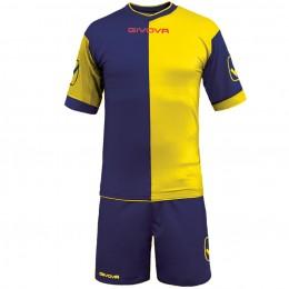 Футбольная форма Givova Kit Combo желто-синяя KITC22.0407