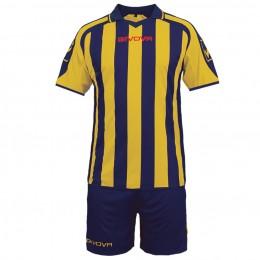 Футбольная форма Givova Kit Supporter сине-желтая KITC24.0407