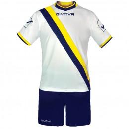 Футбольная форма Givova Kit Trasversal бело-синяя KITC20.0407