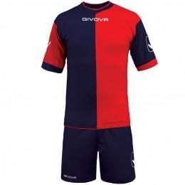 Футбольная форма Givova Kit Combo красно-синяя KITC22.0412