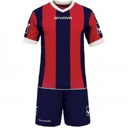 Футбольная форма Givova Kit Catalano красно-синяя KITC26.0412