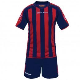 Футбольная форма Givova Kit Supporter сине-красная KITC24.0412