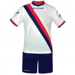 Футбольная форма Givova Kit Trasversal бело-синяя KITC20.0412