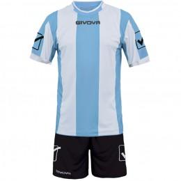 Футбольная форма Givova Kit Catalano черно-голубая KITC26.0503