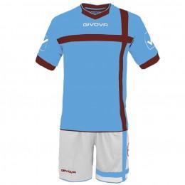 Футбольная форма Givova Kit Croce бело-голубая KITC32.0508