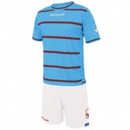 Футбольная форма Givova Kit Caos бело-голубая KITC41B.0508