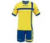 Футбольная форма Givova Kit Croce желто-голубая KITC32.0702