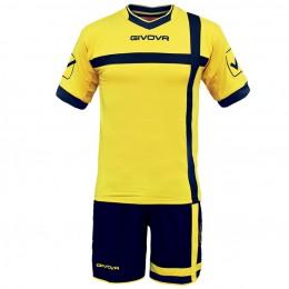 Футбольная форма Givova Kit Croce желто-черная KITC32.0704