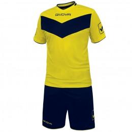 Футбольная форма Givova Kit Vittoria желто-синяя KITT04.0704