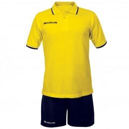 Футбольная форма Givova Kit Street желто-синяя KIT032.0704